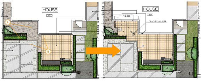 計画前後の平面図