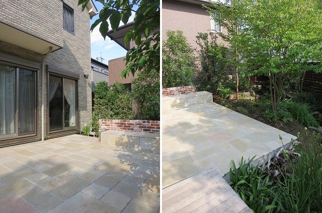 after ;(左)建物とテラスが行き来しやすいように |(右)日差しと緑陰のコントラストが素敵です