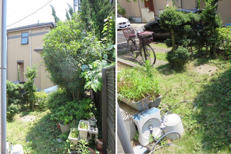 洋風のテラスガーデン(お庭)