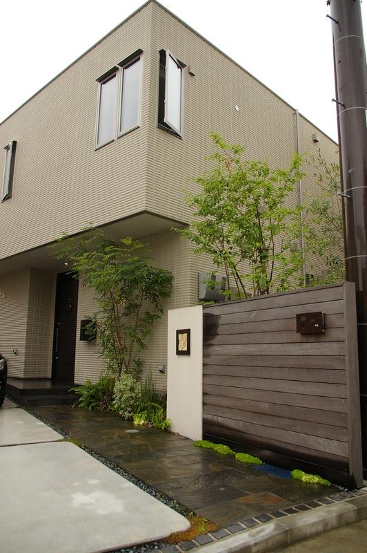 シンプルデザインの外構(エクステリア)お庭(ガーデン)横浜市 港北区