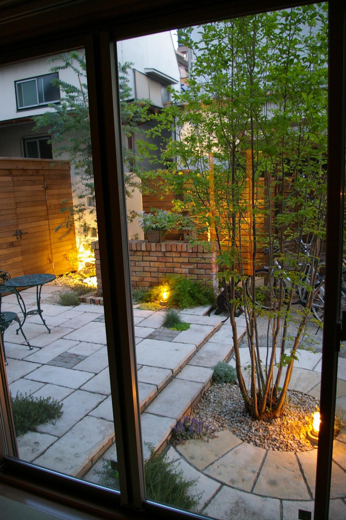 シンボルツリーがアオハダのお庭(ガーデン)