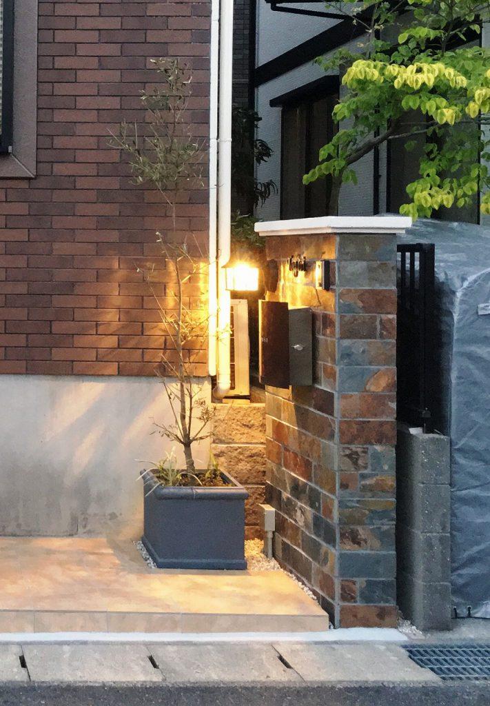 東郷町-門塀(側面厚み)