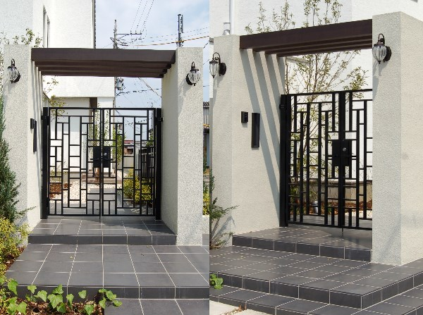 アートデザインと重厚感を併せ持つ外構(エクステリア)門扉