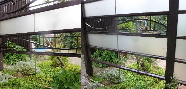 目隠しフェンス機能を兼ね備えたお庭(ガーデン)の面格子