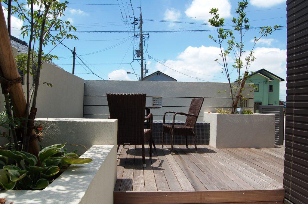 ウッドデッキのお庭(ガーデン)名古屋