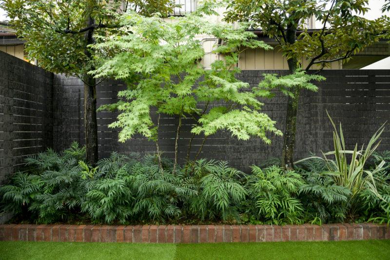 植物も新・旧を織り交ぜました。残すべき樹木はあえて残して、新規の植物を追加したスタイルです。