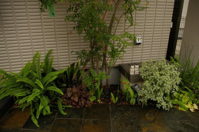アジアンリゾートの庭空間I様邸